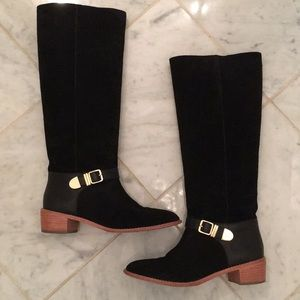 Loeffler Randall Knee High Black Boots Size 8.5